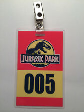 Jurassic Park Tour Vehicle Parking Pass ID Tag Costume Cosplay Prop Laminate