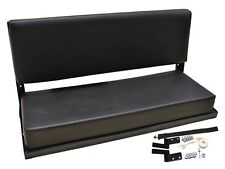 DEFENDER 90 110 2 PERSON FOLDING REAR BENCH SEAT WITH FITTINGS 320737 BLACK