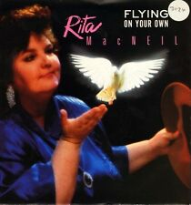 "RITA MACNEIL flying on your own/fast train to tokyo PO 123 uk 1990 7"" PS EX/EX"