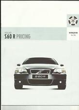 VOLVO S60 R DETAILED PRICES,SPECIFICATIONS,COLOURS,ACCESSORIES BROCHURE APR.2003