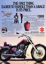 1986 Suzuki Savage 650 Motorcycle Original Advertisement Print Ad J508