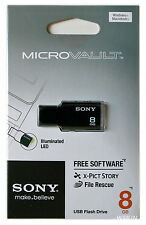 SONY 8GB USB 2.0 Micro Vault Tiny USB Flash Drive KEY 8G Black White Pink Green