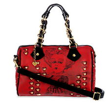 Disney Red Queen of Hearts Purse Handbag Alice in Wonderland