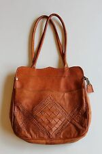 VINTAGE LEATHER LADIES PURSE - MADE IN MOROCCO