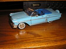 RARE Very Nice 1/24 1958 Chevy Impala Bel Air Convertible Lt. Blue