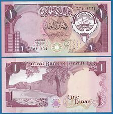 Kuwait 1 Dinar P 13 d L. 1968 (1980-91) UNC Signature 6 Low Ship!  (P-13d)