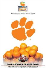 2014 DISCOVER ORANGE BOWL OFFICIAL COMPLETE GAME New DVD Clemson Tigers
