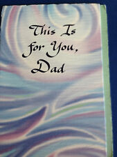 "Blue Mountain Arts Greeting Card NEW ""This is for you Dad"" Father Birthday"