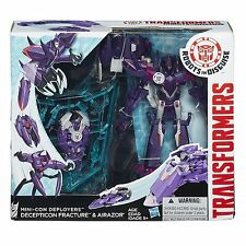 TRANSFORMERS ROBOTS IN DISGUISE MINI-CON DEPLOYERS FRACTURE & AIRAZOR FIGURES