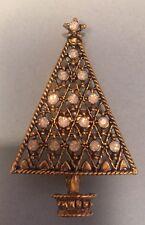 Vtg. Signed Eisenberg Ice Christmas Tree   Pin