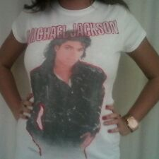 MICHAEL JACKSON T-SHIRT FADED BAD OFFICIAL CONCERT MEMORALILIA POPROCK SIZE XL