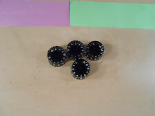 NICE Gibson Epiphone Bell Top Hat Black Speed Knobs Set of 4 Les Paul / SG