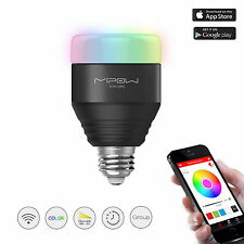 MIPOW Smart LED RGB Light Bulbs Dimmable Color Changing Christmas Party lighting