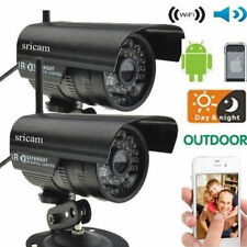 2X Sricam Outdoor Wireless Waterproof IR IP Camera Network Spy Cam Night Vision