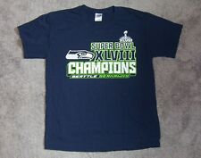 SEATTLE SEAHAWKS SUPERBOWL XLVIII T-SHIRT NFL LARGE