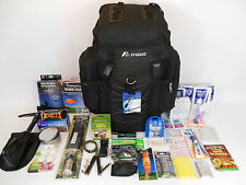 1 Person 3 Day Emergency Survival Kit Bug out Bag 72 Hour Zombie in Black