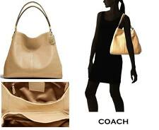 NWT COACH MADISON LEATHER SMALL PHOEBE SHOULDER BAG IN TAN $328