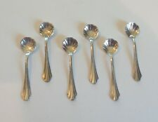 NICE MATCHED SET/6 ANTIQUE WEBSTER STERLING SILVER SALT SPOONS, 10 grams