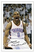 RUSSELL WESTBROOK OKLAHOMA CITY THUNDER AUTOGRAPH SIGNED PHOTO PRINT BASKETBALL