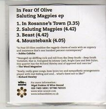 (CS517) In Fear Of Olive, Saluting Magpies EP - 2012 DJ CD