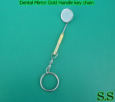 Dental Mirror Gold Handle key chain Dental Instruments