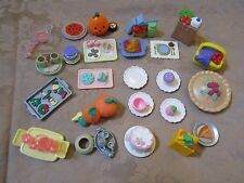 Fisher Price Loving Family Dream Grand Dollhouse dishes food decorations plates