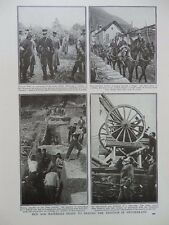 1917 SWISS ARMY PROTECTING SWISS FRONTIER GENERAL WILLE, ANTI AIRCRAFT WWI WW1