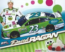 "2016 DAVID RAGAN ""SWEET FROG"" #23 NASCAR SPRINT CUP SERIES POSTCARD"