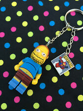 The Simpsons Comic Book Guy Keyring/Keychain...Handmade using LEGO® parts
