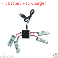 Power 3.7V 500mAh Li-Polymer Battery +A Four Charger For JJRC H37 RC Quadcopter