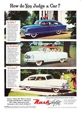 1952 Nash Airflyte & Ambassador Rambler Country Club photo vintage print ad