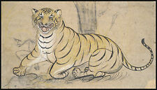 India Painting Reproduction: Drawing of a Tiger - Fine Art Print