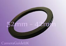 52mm to 42mm 52mm-42mm Stepping Step Down Filter Ring Adapter