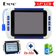 "HFR-805 Portable 3.5"" LCD 2-32X Magnification Electronic Reading Video Magnifier"
