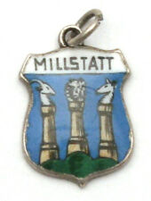Millstatt Austria Coat of Arms Enamel Travel Shield 835 Silver Bracelet Charm