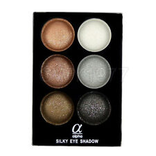 Alpha 6 Colors Silky Naked And Smoky Eye Shadow Palette With Brush And Mirror