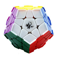 New Dayan Megaminx Twisty Puzzle Stikersless Magic Cube with Corner Ridges