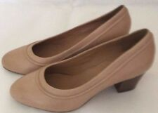 Clarks beige women's heels shoes wide fit UK 6.5 E brand new without the box