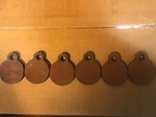 "AR 500 Steel Targets Hanging Gong  3"" x 3/8"" Set of 6 Pistol Plates! USA MADE!"