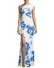 NWT La Petite Robe di Chiara Boni One-Shoulder Floral-Print Column Gown 6 $1090