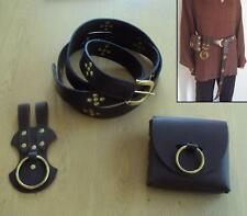 Leather Belt, Axe Frog and Bag Perfect for Re-enactment, Stage, Costume and LARP