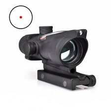 ACOG Style Fiber Optic Sight 1x32 Scope Airsoft Rifle Red Rifle Scopes