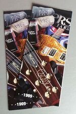 PRS Paul Reed Smith Guitars Accessories 1999 Sales Catalog Brochure Tri Foldout