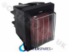 BIPOLAR RED ROCKER SWITCH ON OFF DOUBLE POLE 4 PIN 22X31MM 230V IP65 COVER
