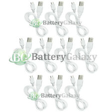 10 USB White Micro Charger Sync Cable for Samsung Galaxy S S2 S3 S4 2 3 4 III IV