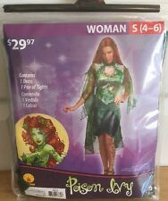 Poison Ivy Costume Halloween Cosplay Woman Small 4-6 2 Piece Set Batman Gotham