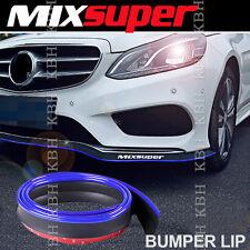 MIXSUPER Rubber Front Bumper Lip Splitter Chin Spoiler Trim EZ Protector BLUE b