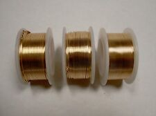 3 BOBBINS OF GOLD coloured COPPER WIRE 0.4mm 0.6mm 0.8mm - craft wire -