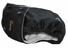 SIZE XL Waterproof Female Dog Pants / Nappy - Poppers & Washable Pads - Black