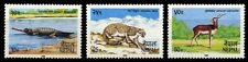 NEPAL 1984-Nature-Wild life-Fauna-Gharial, Snow Leopard-S.G. 448-450